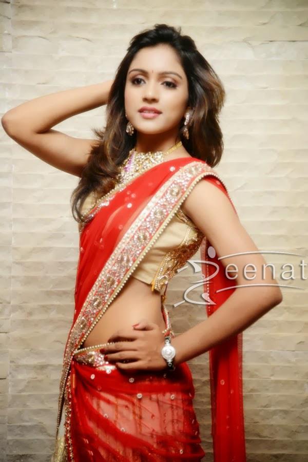 Vithika in Designer Half-Saree