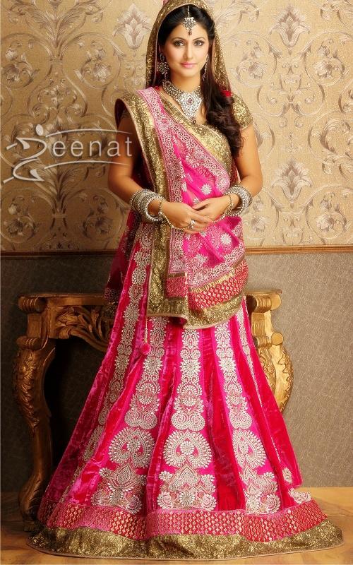 Hina Khan In Pink Bridal Lehenga