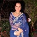 Sonakshi In Blue Saree