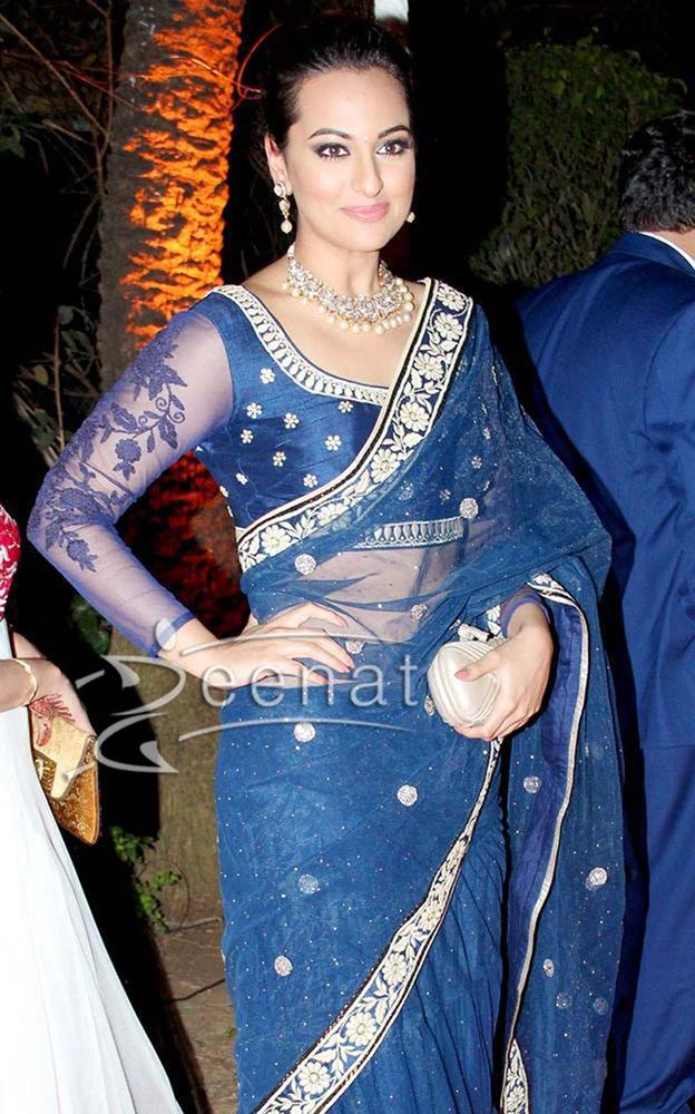 Sonakshi Sinha in blue designer Lehenga 2014