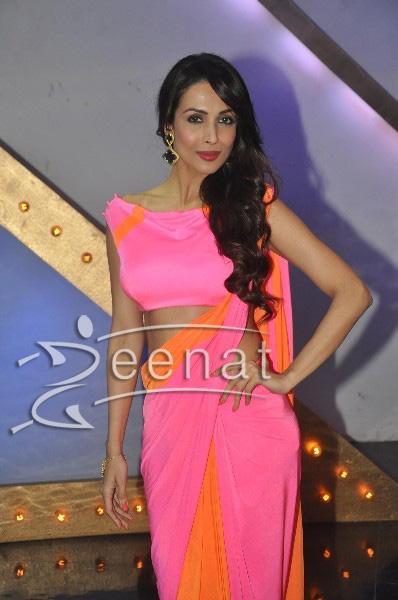Malaika Arora Khan in pink saree