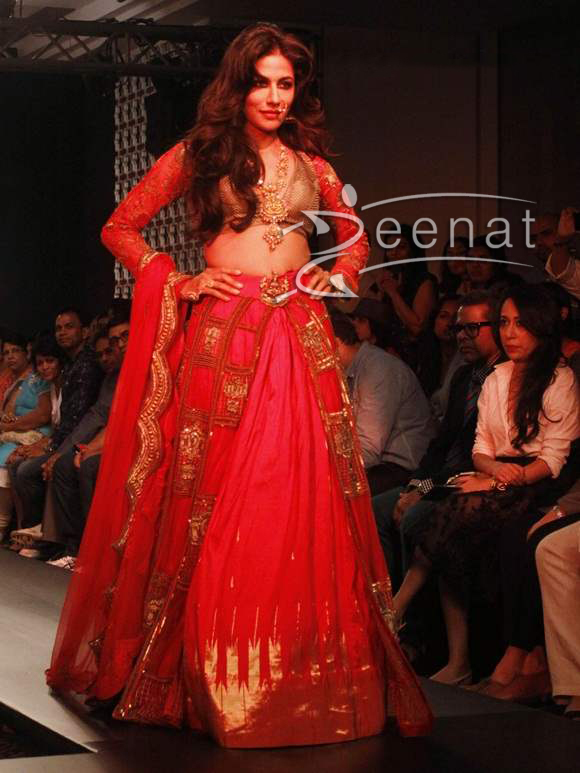Chitrangada Singh in Harshitaa Chatterjee Bridal Lehenga