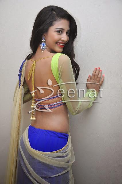 Daksha Nagarkar in Blue Half Saree