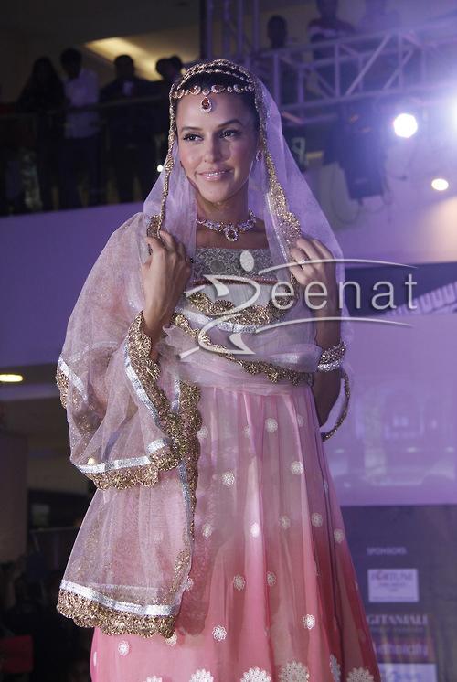 Neha Dhupia in Pink and White Anarkali