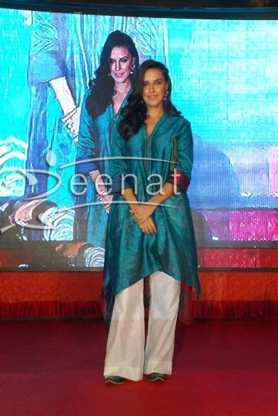 Neha Dhupia in Blue Salwar Suit