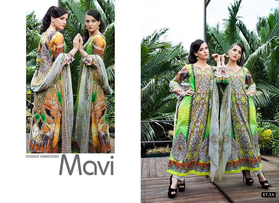 2-a Mavi Designer Embroidered 2014