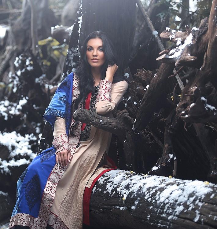 Zunn Winter Shawl Dresses 2014  (10)