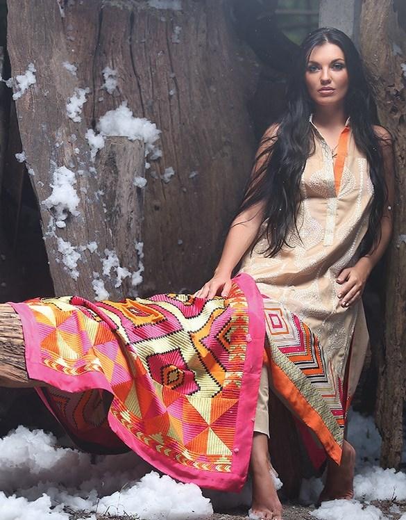Zunn Winter Shawl Dresses 2014  (2)