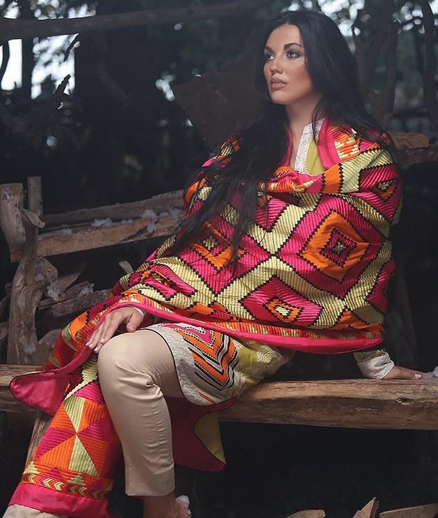 Zunn Winter Shawl Dresses 2014  (4)