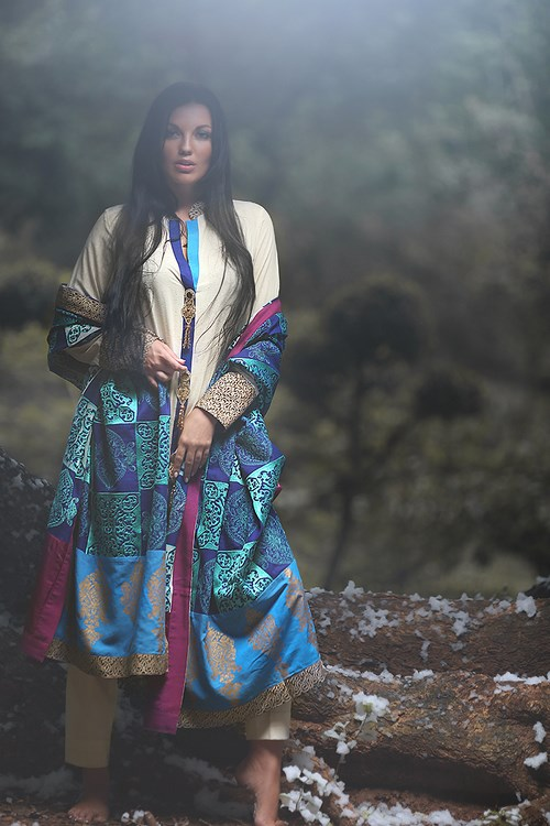Zunn Winter Shawl Dresses 2014  (6)