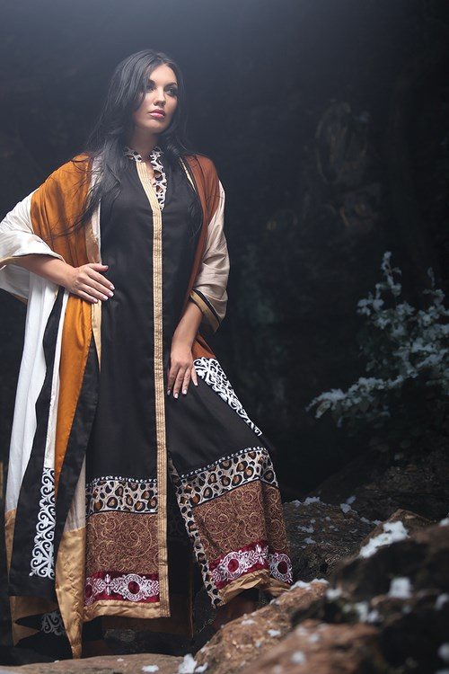 Zunn Winter Shawl Dresses 2014  (8)