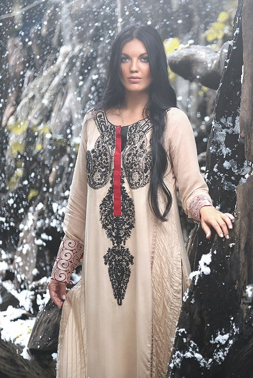 Zunn Winter Shawl Dresses 2014  (9)