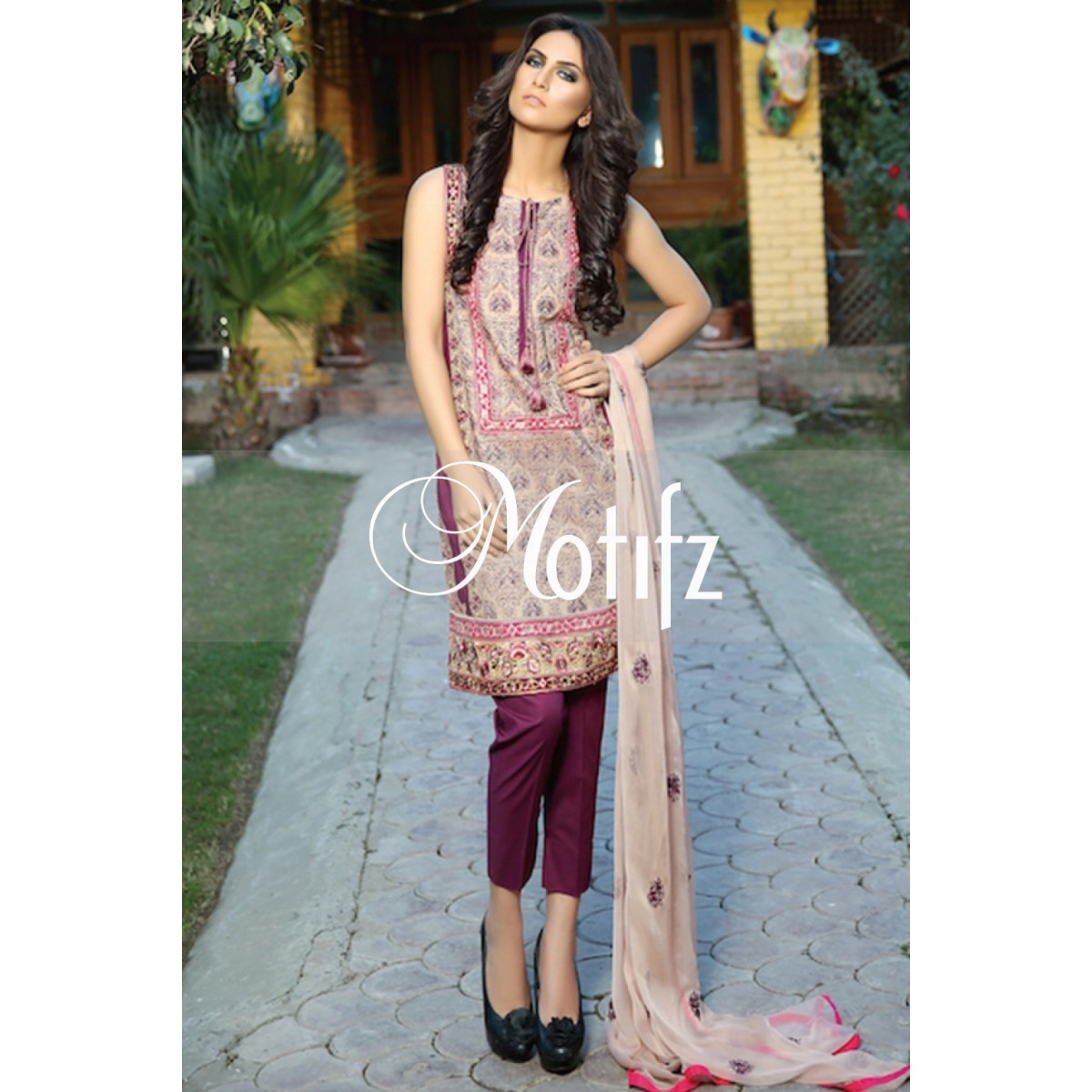 Motifz Embroidered Lawn 2015
