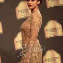 Aditi Rao Hydari In Neeta Lulla Golden Dress Blenders Pride Fashion Tour