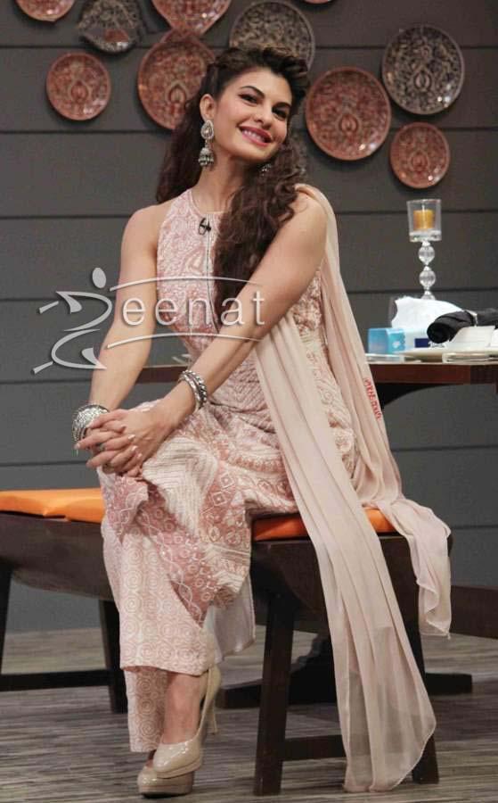 Jacqueline Fernandez In Ethnic Anita Dongre Suit Zeenat