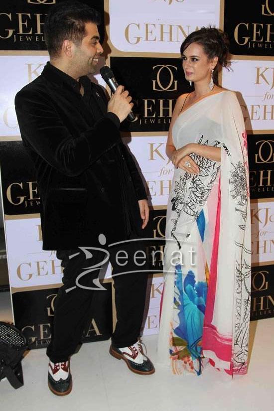 Evelyn Sharma In White Masaba Saree
