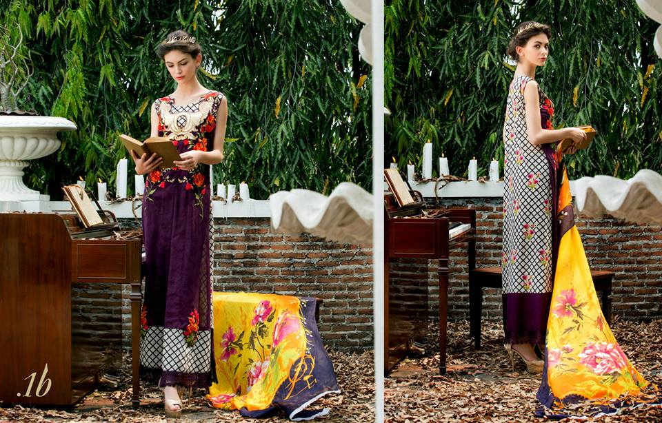 Tabassum Mughal Lawn Collection 2015 By Al Zohaib Textiles 13 Zeenat Style