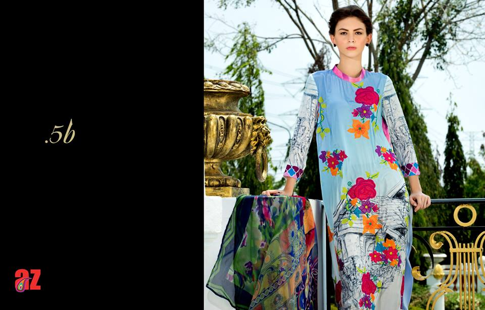 Tabassum Mughal Lawn Collection 2015 By Al Zohaib Textiles 39 Zeenat Style