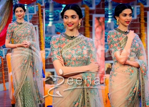 1fbbb709673f96 Deepika-Padukone-In-Sabyasachi-Saree | Zeenat Style
