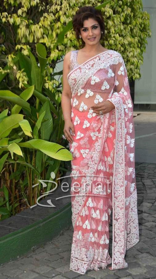 Raveena Tondan in Manish Malhotra Saree