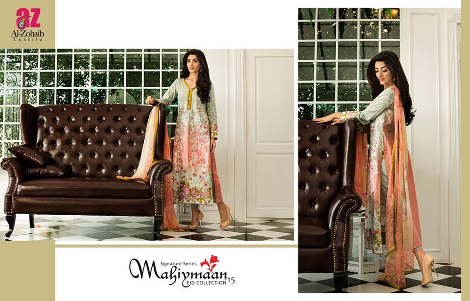 Mahiymaan By Al Zohaib Textiles 2015 – Mawra Hocane (8)