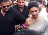 Deepika Padukone In Saree for Bajirao Mastani Promotion