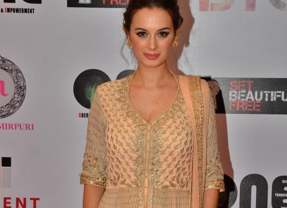 Evelyn Sharma In Anita Dongre at Power Women Campaign