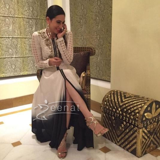 Karisma Kapoor in Kavita Bhartia White Dress