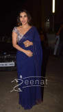 Sophie Chaudhary In Deep Blue Saree 2