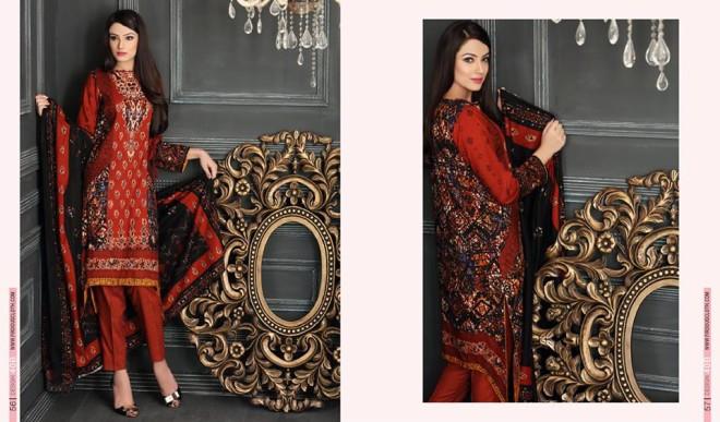 Firdous Paris Linen Winter Collection 2015 (3)