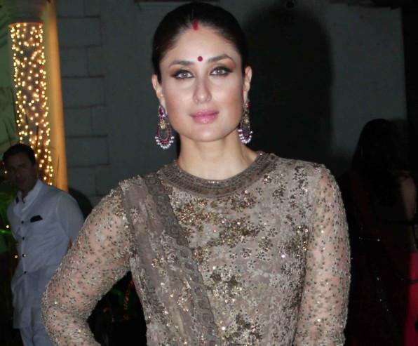 Kareena Kapoor In Sabyasachi at Shilpa Shetty Diwali Bash 2015 (8)