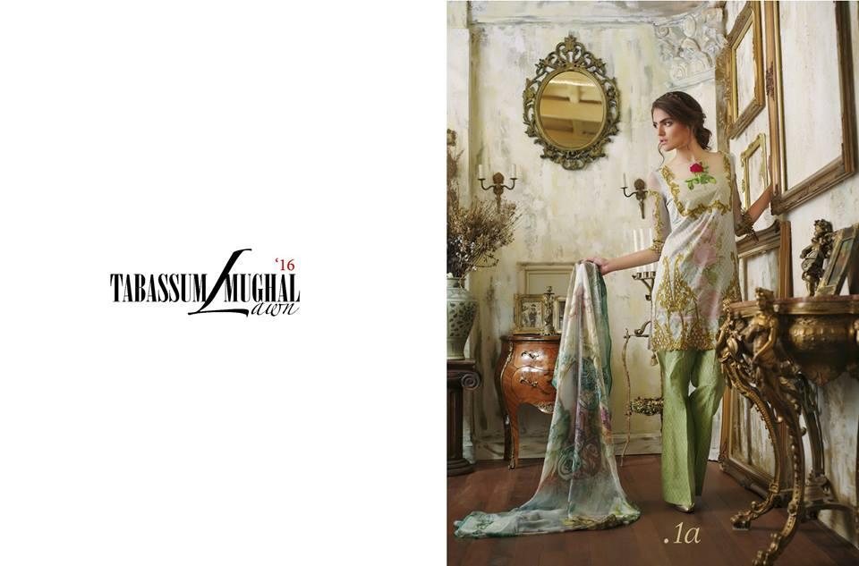 Tabassum Mughal Luxury Lawn 2016 (1)