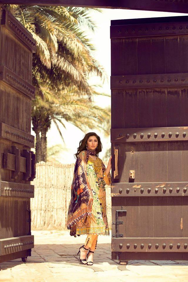 Al-Layan 10A – Feeha Jamshed Lawn Collection 2016 – Mahira Khan