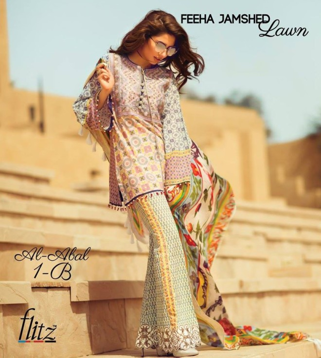 Al-Abal 1B – Feeha Jamshed Lawn Collection 2016 – Mahira Khan