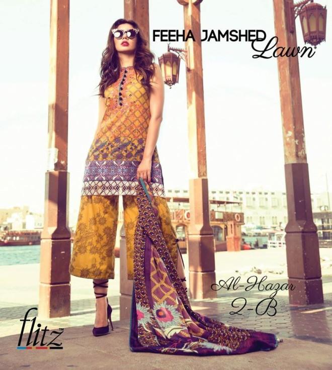 Al-Hazar 2B – Feeha Jamshed Lawn Collection 2016 – Mahira Khan