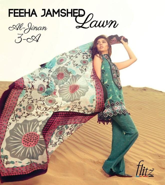 Al-Jinan 3A  – Feeha Jamshed Lawn Collection 2016 – Mahira Khan
