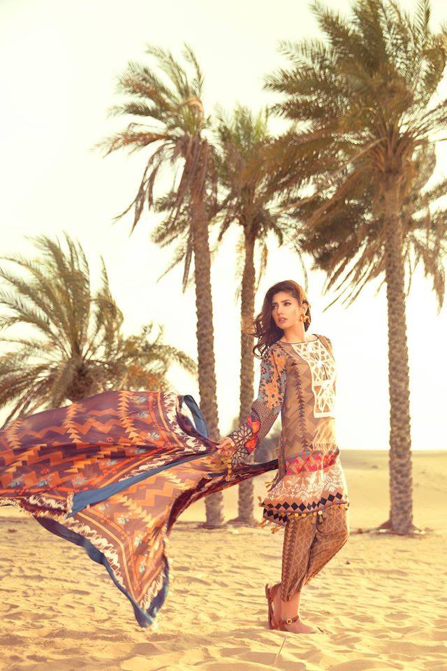 Al-Fella 4A – Feeha Jamshed Lawn Collection 2016 – Mahira Khan