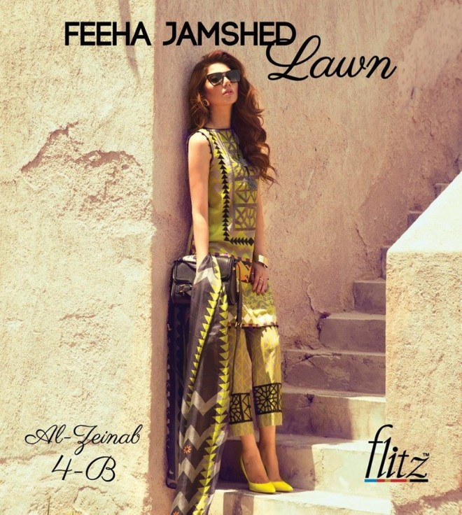Al-Zeinab 4B – Feeha Jamshed Lawn Collection 2016 – Mahira Khan