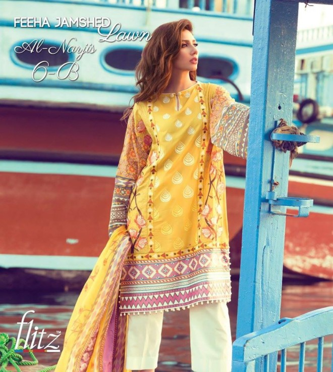 Al-Narjis 6B – Feeha Jamshed Lawn Collection 2016 – Mahira Khan