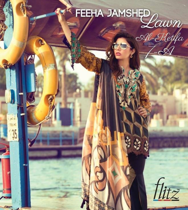 Al-Ketifa 7A  – Feeha Jamshed Lawn Collection 2016 – Mahira Khan