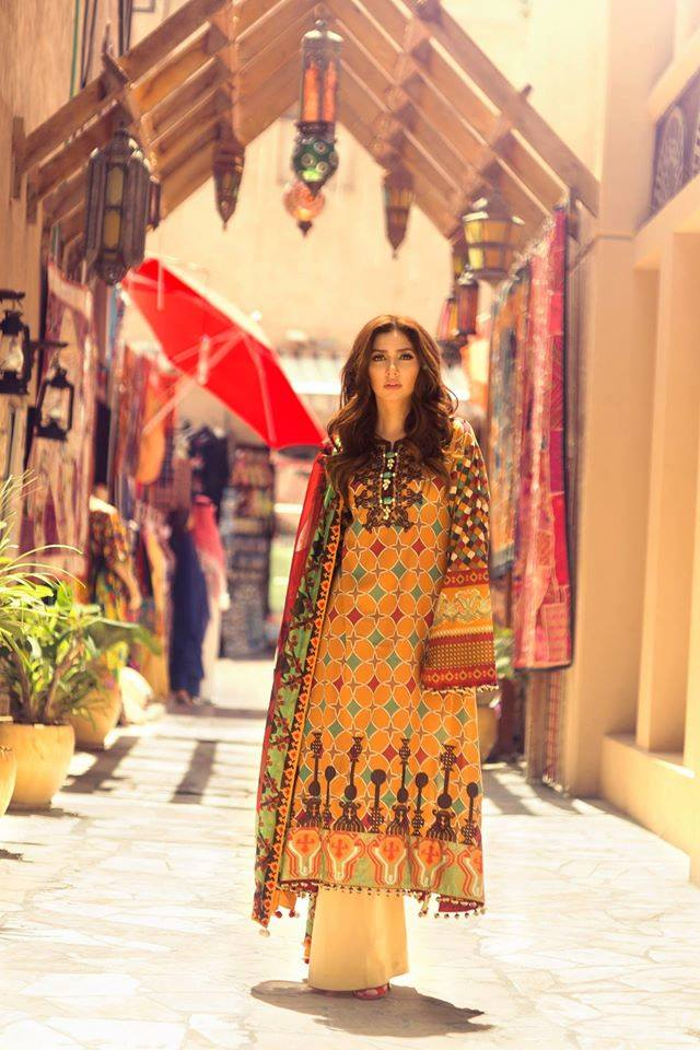 Al-Saffron 8A – Feeha Jamshed Lawn Collection 2016 – Mahira Khan