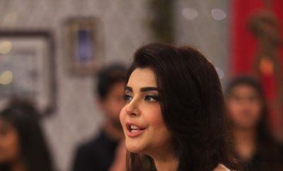 Nida Yasir Good Morning Pakistan RedDress