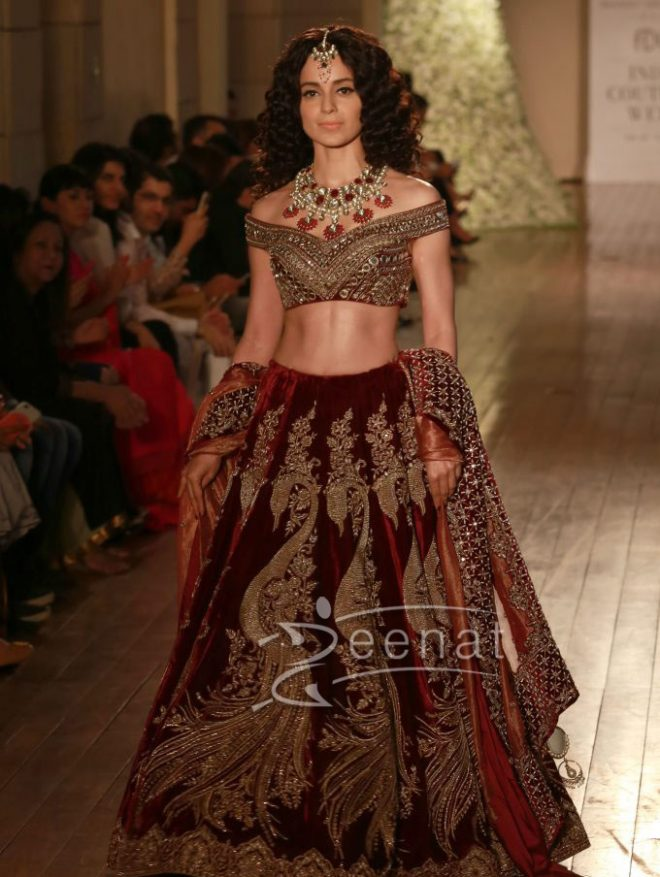 Kangana Ranaut For Manav Gangwani Indian Couture Week 2016