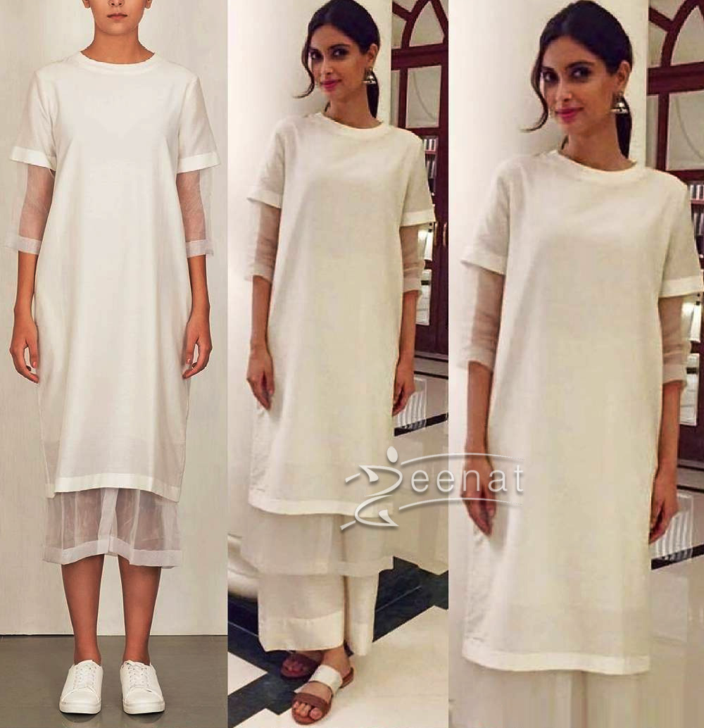 Bodice outfit and Vaph sandals for Happy Bhaag Jayegi Promotions