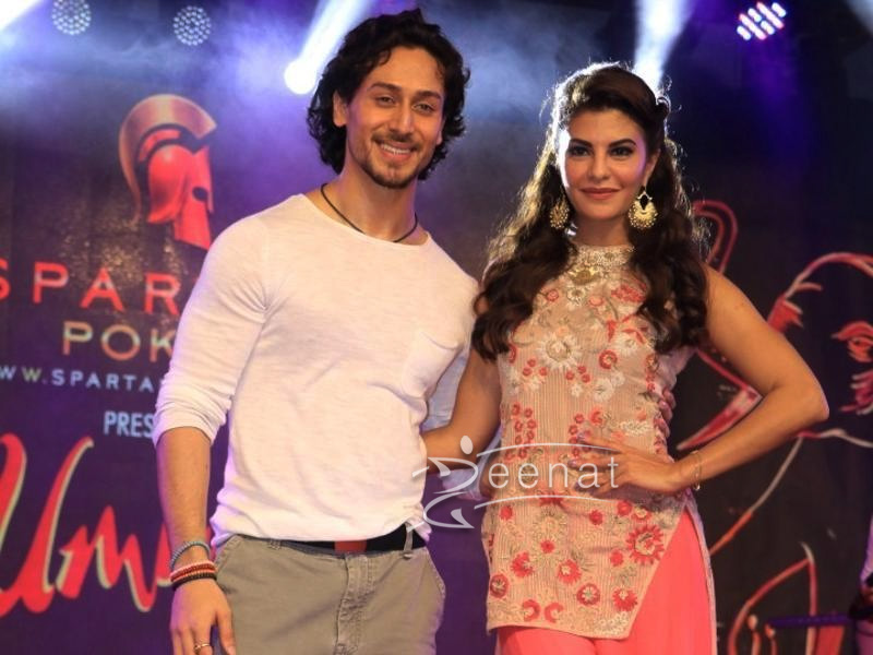 Jacqueline Fernandes promotes A Flying Jatt in Kavita Bhartia dress