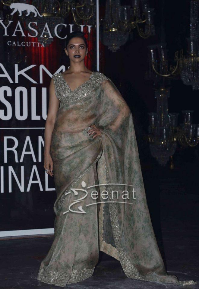 Deepika Padukone In Sabyasachi Mukherjee Saree