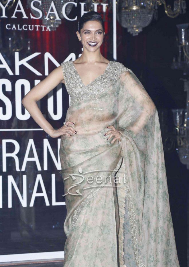 Deepika Padukone In Sabyasachi Mukherjee Saree3