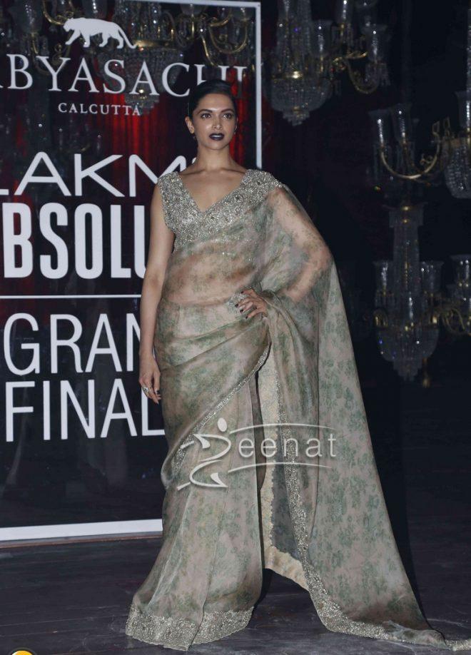 Deepika Padukone In Sabyasachi Mukherjee Saree4
