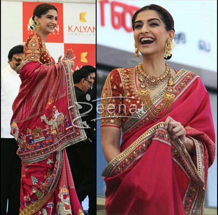 Sonam Kapoor In Aby Jani Sandeep Khosla Saree