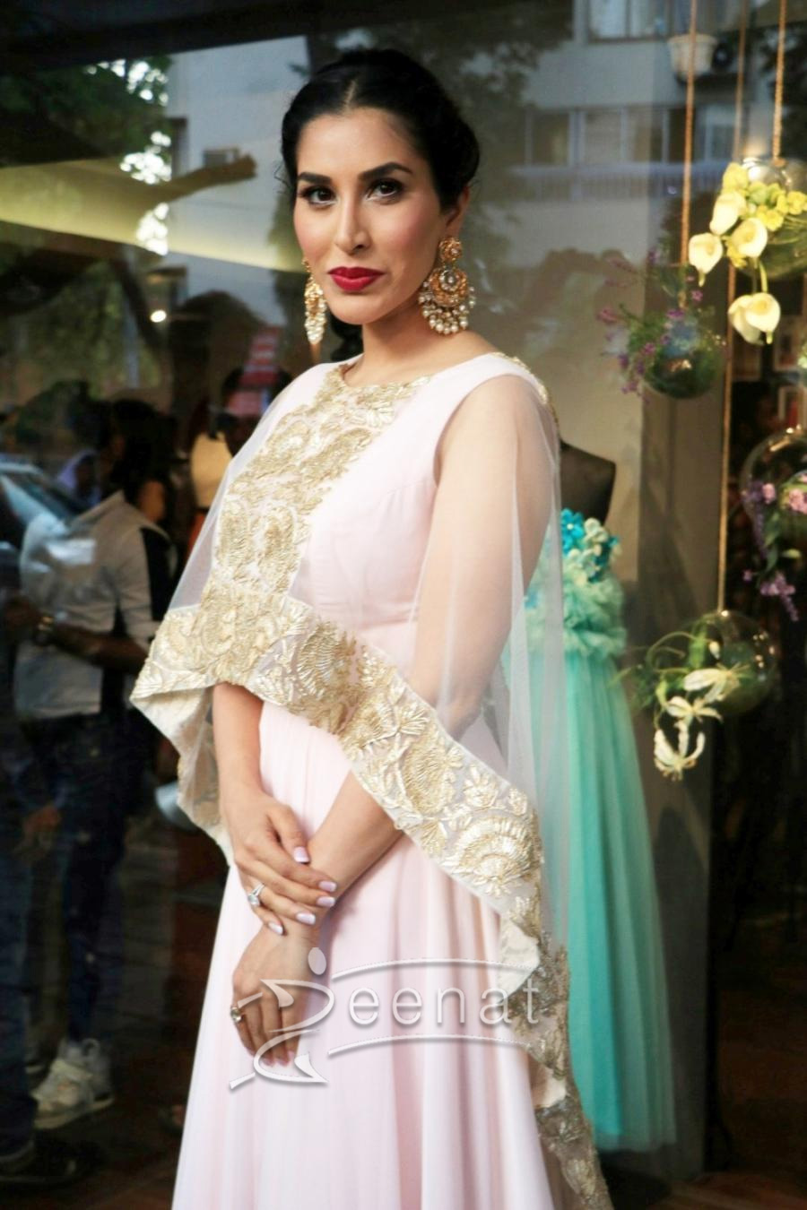 Sophie Chaudhary in Amy Billimoria at Zevadhi Jewels Launch event